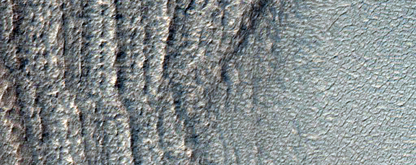 Exposure of South Polar Layered Deposits