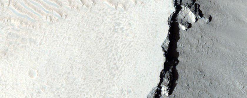 Possible Skylight in Arsia Mons Region