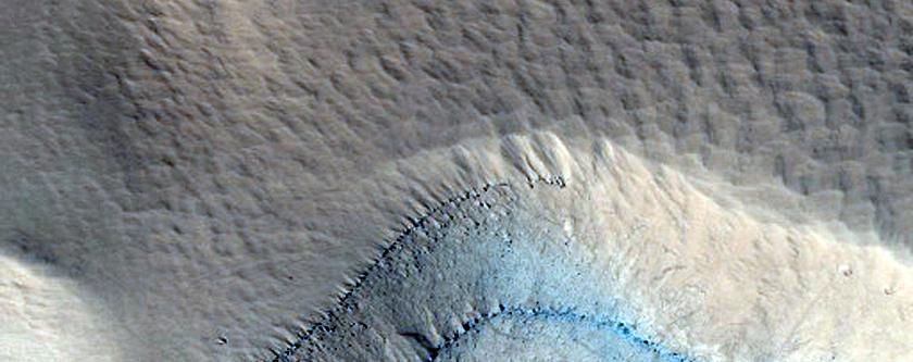 Western Olympus Mons Basal Scarp Stratigraphy