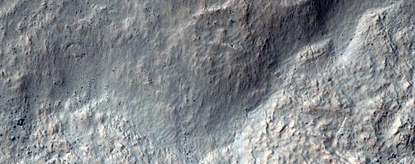 Crater in Hellespontus Montes