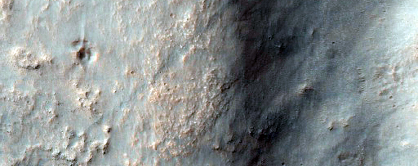 Flow into Crater in Terra Cimmeria