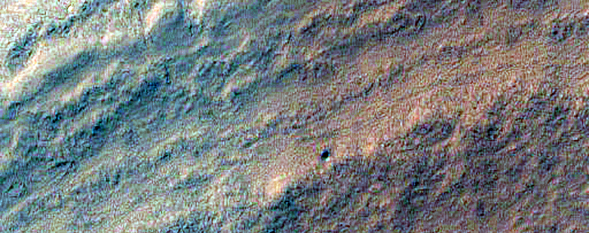 South Polar Residual Cap Margin in Enhanced Color