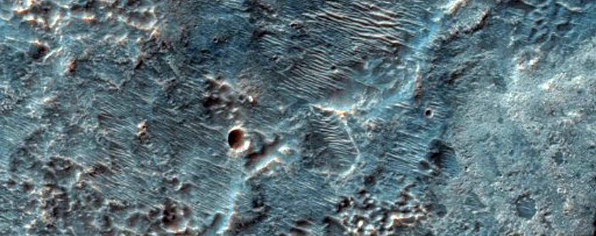 Channels from Hale Crater