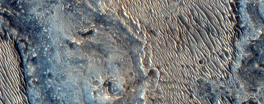 Ridged Material in Noctis Labyrinthus