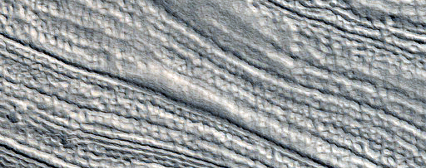 Lineated Valley Fill in Ismeniae Fossae
