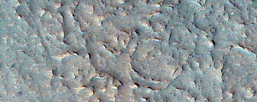Platy-Ridged Surface Inside Northern Branch of Kasei Valles