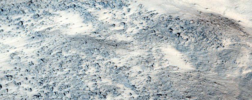 Landslide in Xanthe Terra