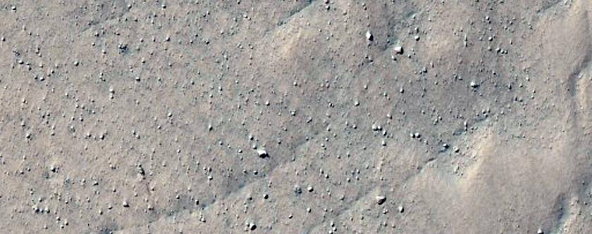 Interesting Rough Terrain Near Circular Basin Feature