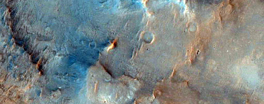 Syrtis Major Hydrated Crater Floor and Megabreccia in Central Pit