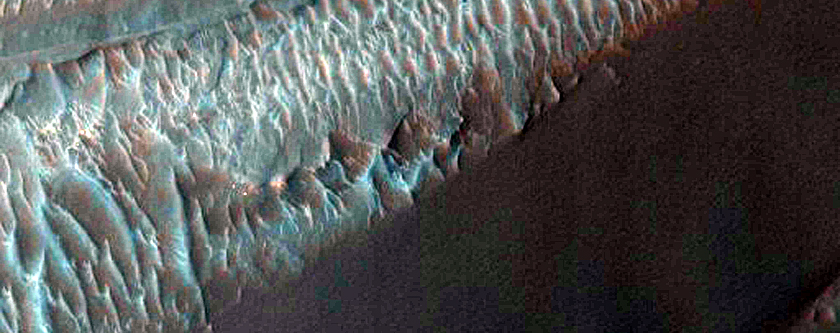 High-Albedo Materials in Ganges Chasma