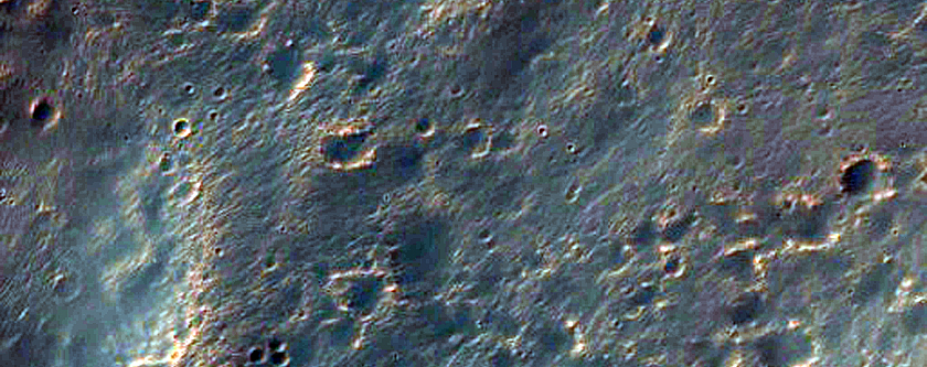 Bright Layers in Columbus Crater