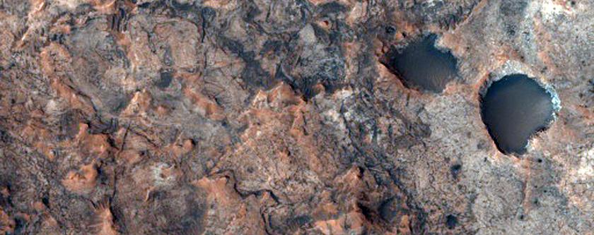 Potential Landing Site Near Mawrth Vallis