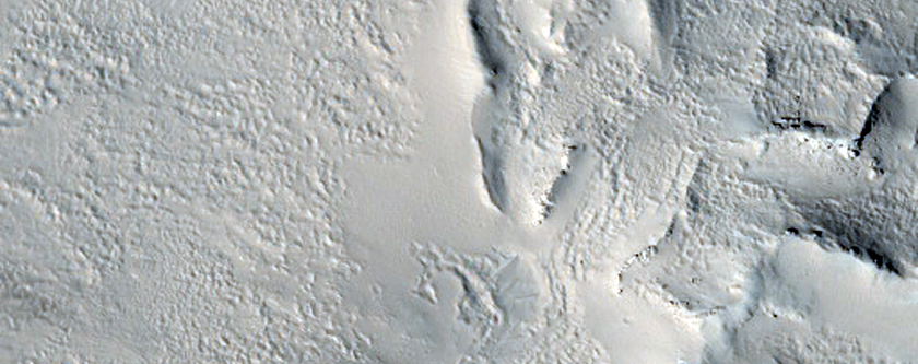 Small Cones North of Olympus Mons