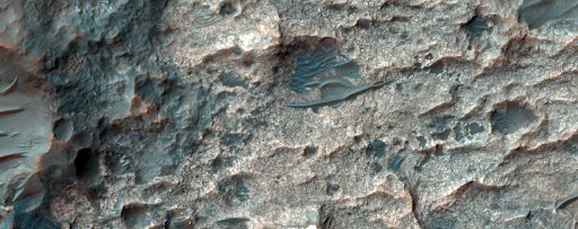 Bright Material on Crater Floor