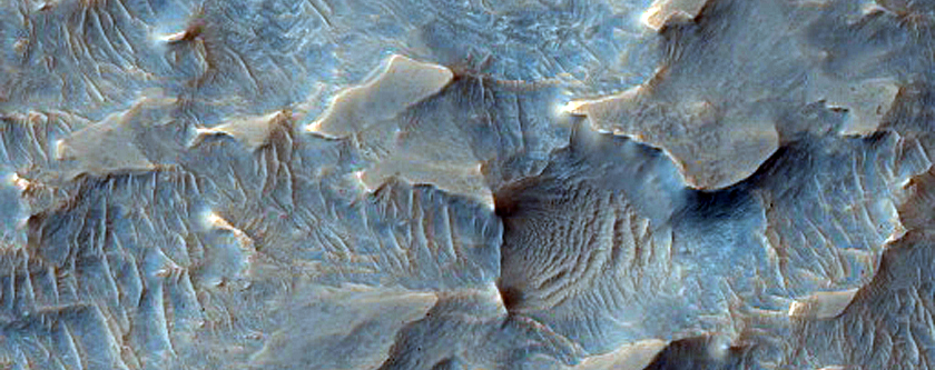 Inverted Channels North of Juventae Chasma