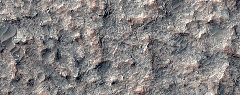 Olivine-Rich Area in Kasimov Crater