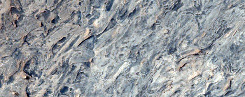 Layered Rocks in Meridiani