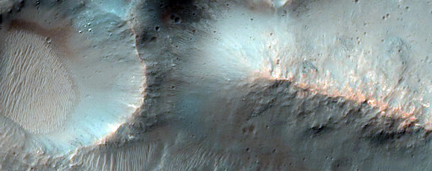 Central Uplift of An Unnamed Crater in Molesworth Crater