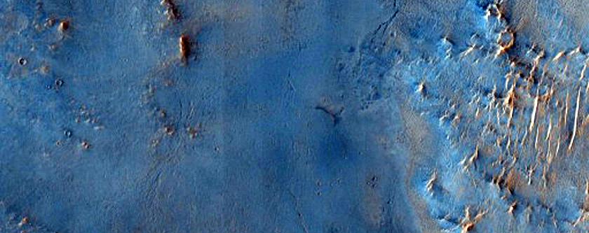 Nili Fossae Phyllosilicate Crater Ejecta
