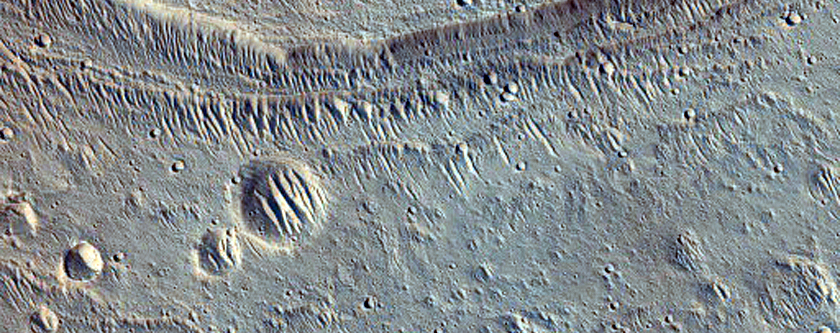 Alluvial Fan in Crater East of Maja Valles
