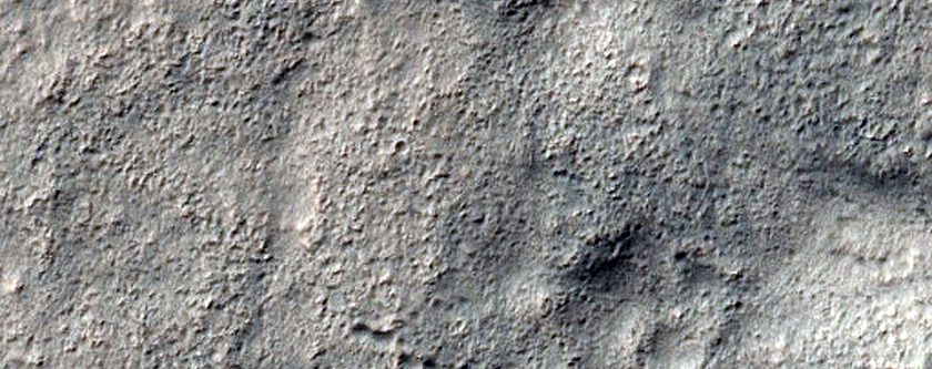 Centauri Montes Massif Apron Material Contact with Upland