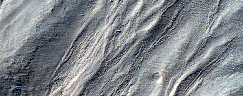 Crater with Gullies Seen in MOC Image E12-01539