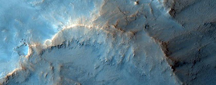 Nili Fossae Crater Rim