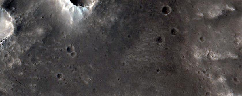 Mawrth Region Ejecta Blanket
