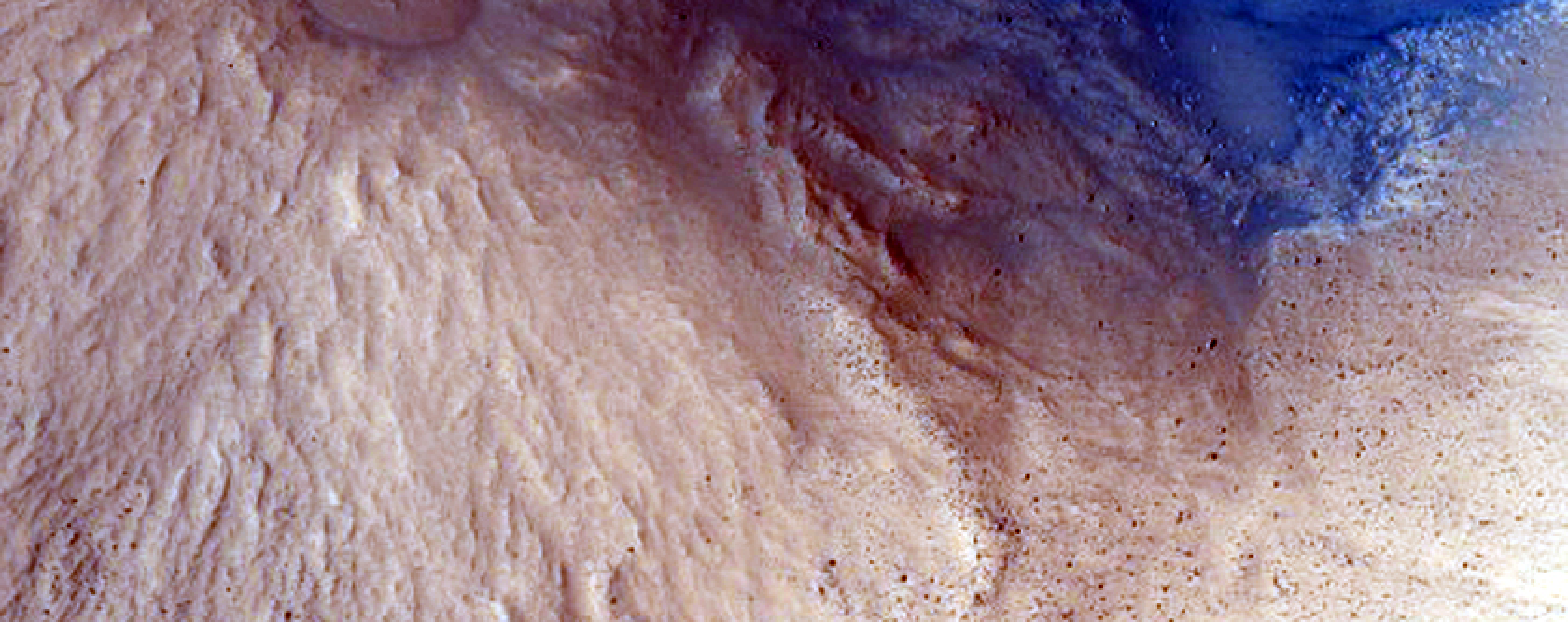 Fresh Crater on Floor of Pasteur Crater