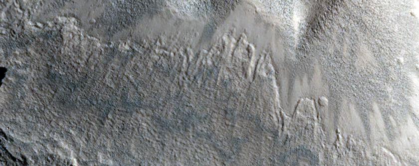 Ceraunius Catena Pit Crater Chain Southeast of Alba Patera
