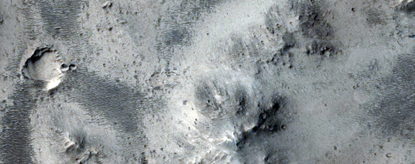 Crater Ejecta in Mawrth Vallis Region