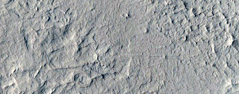 Layering in Henry Crater