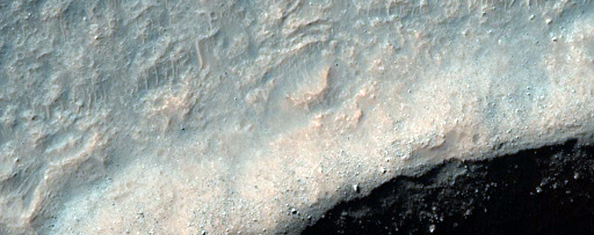 Gullies in High-Latitude Crater