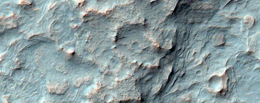 Alluvial Fans in Unnamed Crater