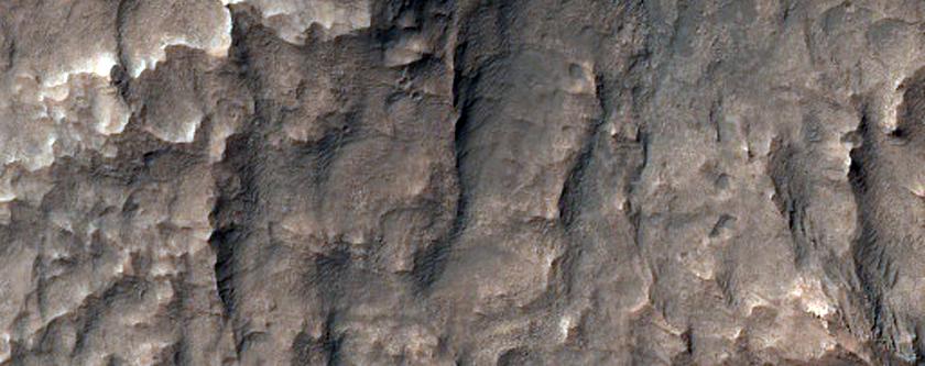 Eridania Basin Light-Toned Outcrops