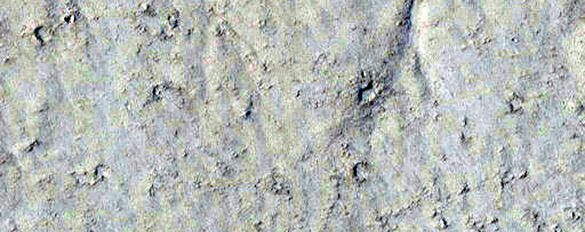 Small Valley Network Near Bank of Marte Valles