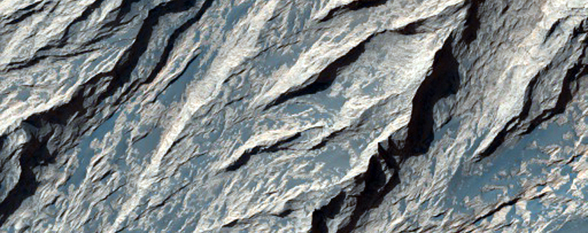 Exposure of Layers and Minerals in Candor Chasma