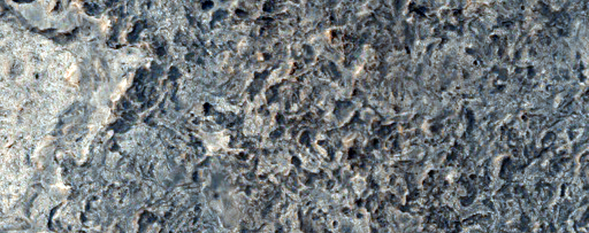 Light-Toned Rock Outcrops in Northeast Sinus Meridiani
