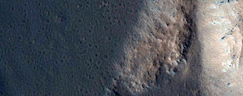 Fresh Double-Layered Crater with Possible Ponded Materials