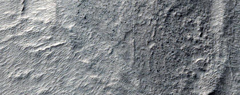 Depression of Floor of Hellas Basin