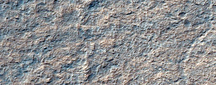 Mottled Terrain on Floor of Hellas Basin