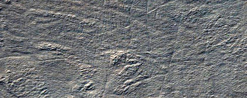 Complex Banded Terrain on Hellas Basin Floor