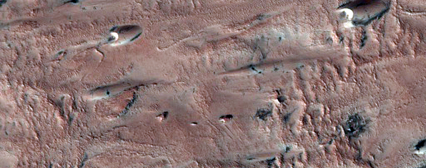 North Polar Dunes with Spots