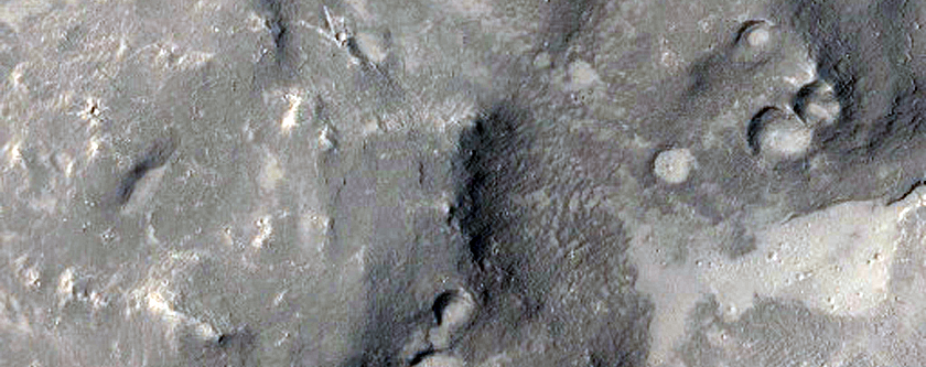 Landforms in Athabasca Valles