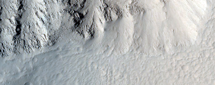 Upper Section of Northern Olympus Mons Basal Scarp