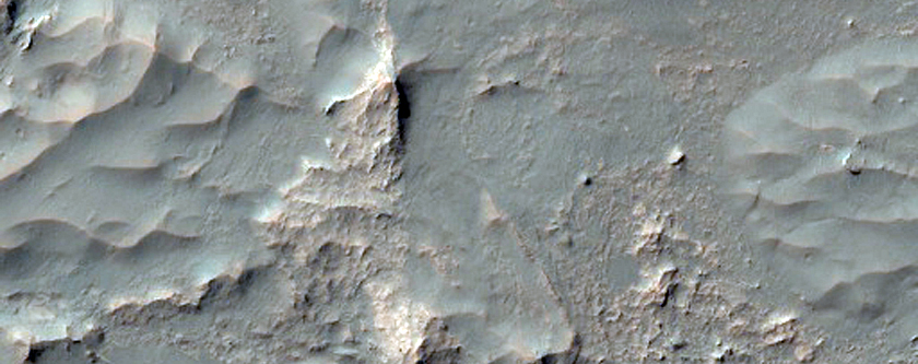 Proposed MSL Landing Site in Eberswalde Crater