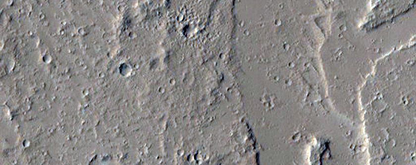 Channel System to East of Olympus Mons