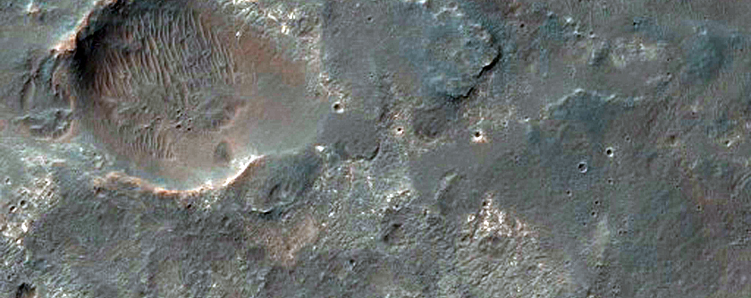 Southern Rim of Coprates Chasma and Plateau