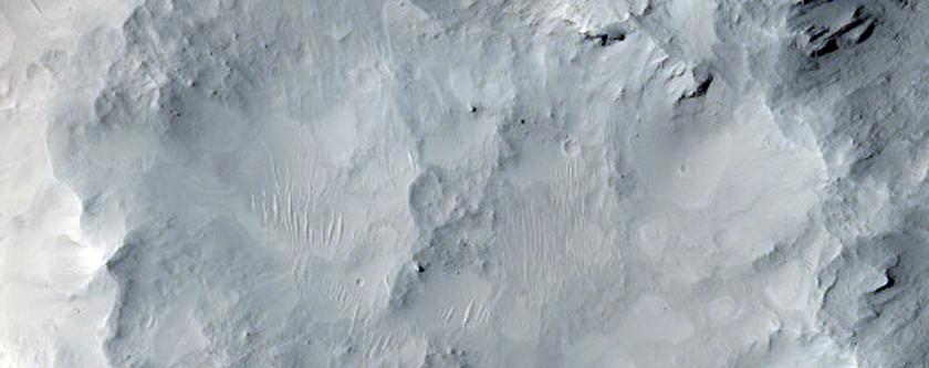 Central Peak of Large 40-Kilometer Diameter Crater