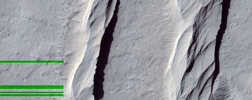 Contact between Apollinaris Mons Fan-Shaped Form and Yardangs
